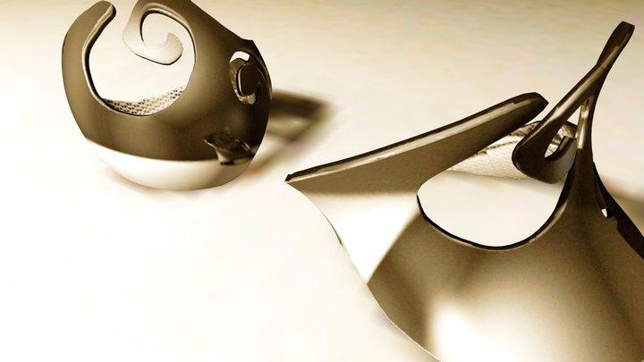 ASHANTI bracelets 3D Model