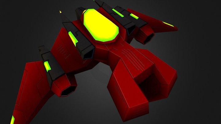 Enemy Bomber (DTF Station) 3D Model