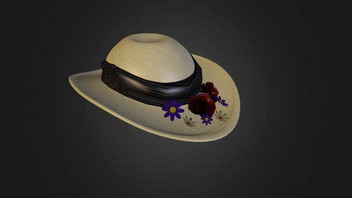 flowered hat1 3D Model