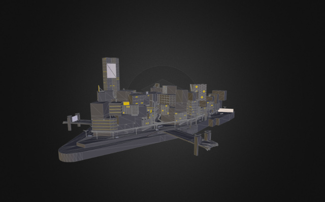 Neo paris part 1 3D Model
