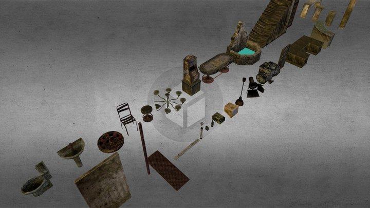 Underwater_Casino_Asset_Set 3D Model