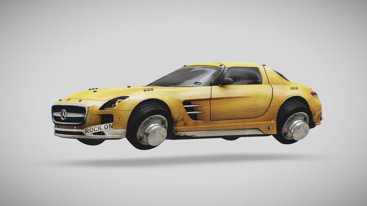 (FREE) Merc Hovercar 3D Model