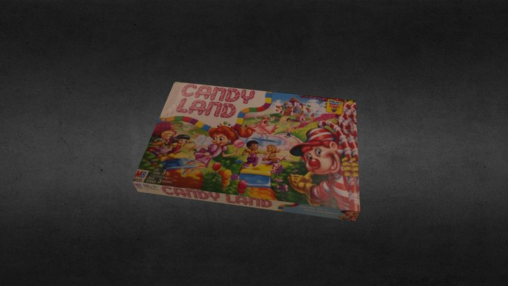 Candy Land Game Box 3D Model