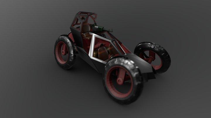 Dune Buggy Armed 3D Model