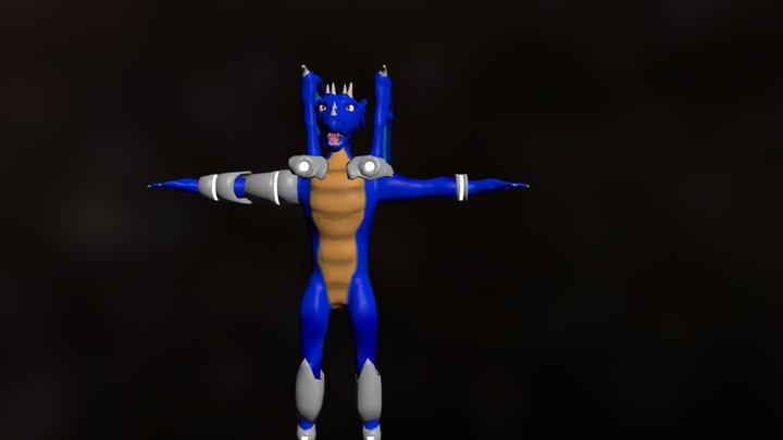 Dragon Character 3D Model