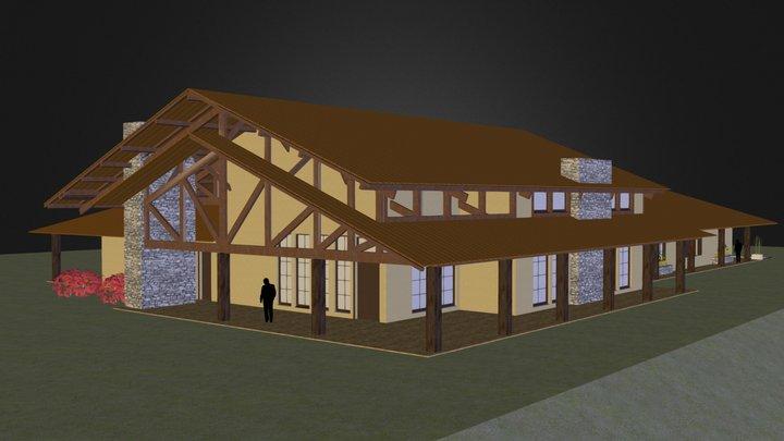 Fazenda Ycatu - c/ Telhado 3D Model
