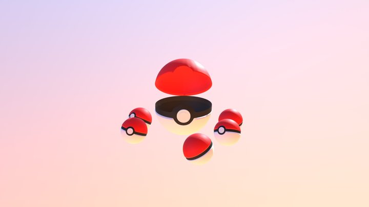 Pokeball's 3D Model