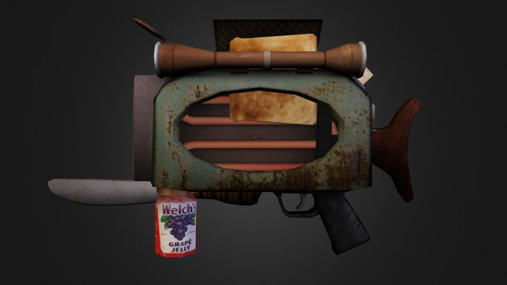 Toaster Rifle 3D Model