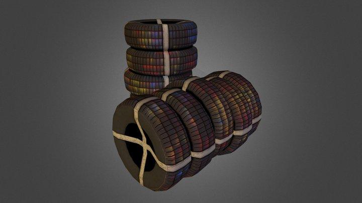 Tyre Stack 3D Model