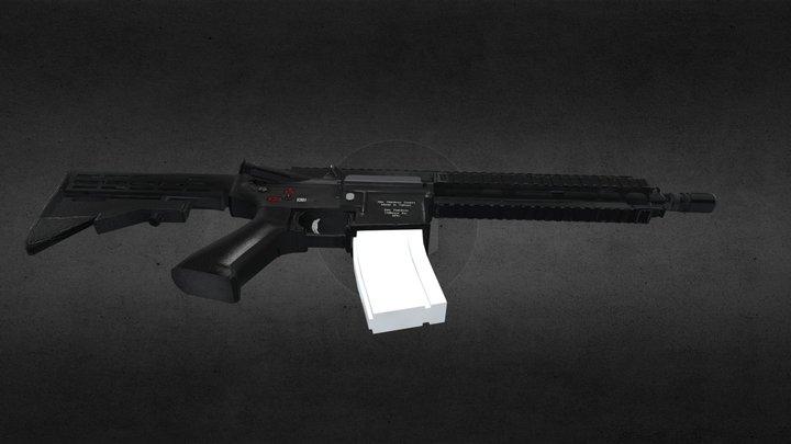 HK416 Work in progress 3D Model