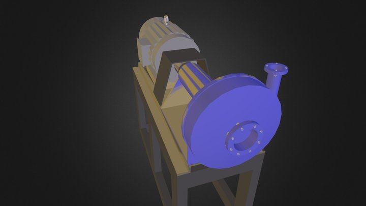 Charge Pump and Skid.dae 3D Model