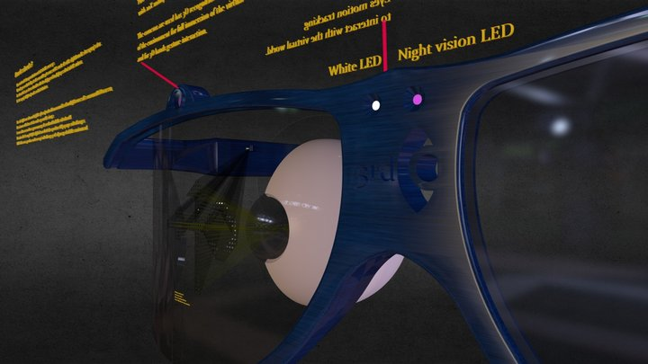 The prefect AR glasses 3D Model