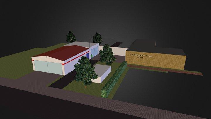 DLRG 4G 4flach&vertikal Rettungswache 3D Model