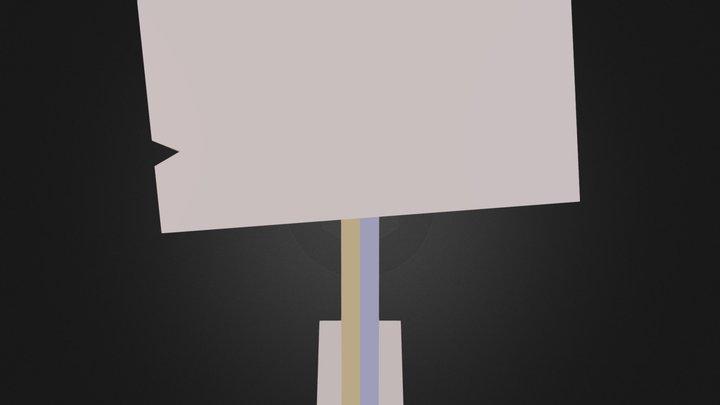 crookedSign.obj 3D Model