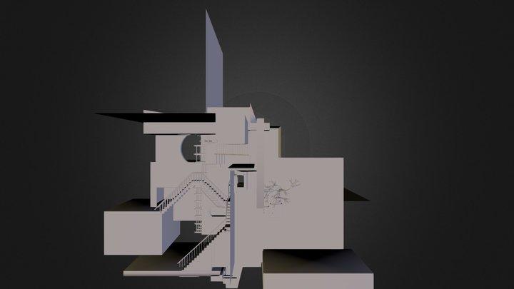 Escher Relativity (OBJ).zip 3D Model