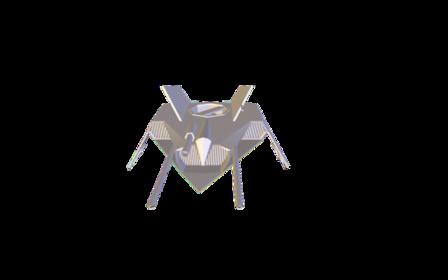 Blue_Ship.obj 3D Model