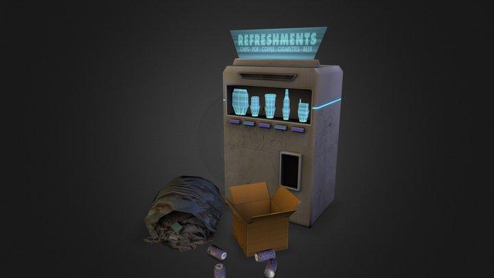 Futuristic/Art Deco Vending Machine 3D Model