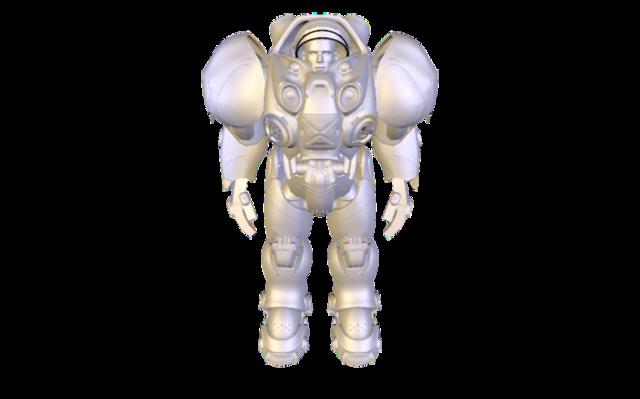 Terran Marine: WIP 012 3D Model