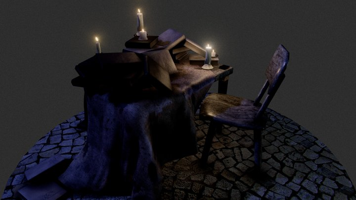 Diablo Style env. 3D Model