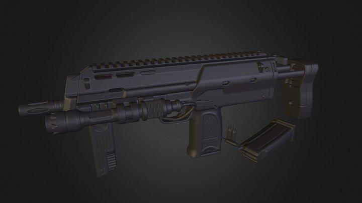 Computrons MP7 Sub-D Model 3D Model