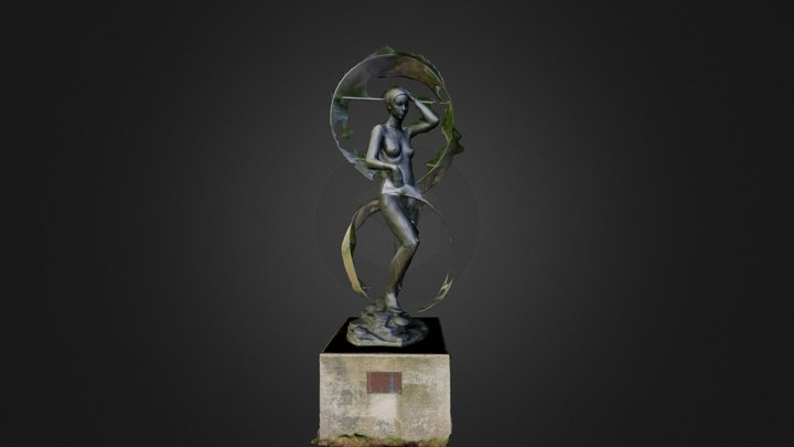 Statue at Uni 3D Model
