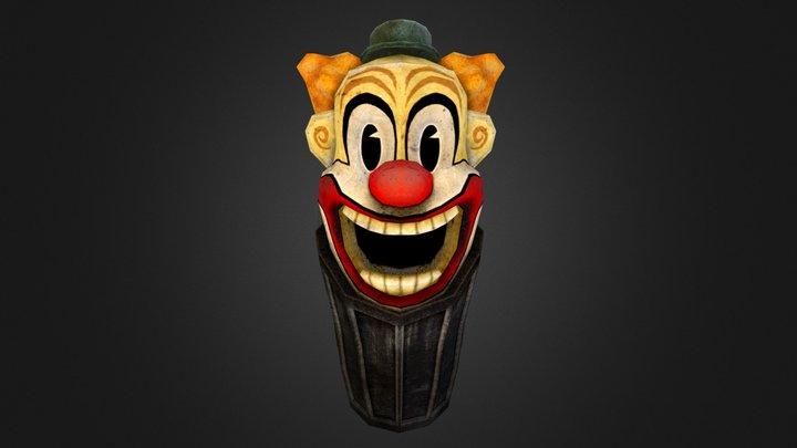 Clown Dustbin 3D Model
