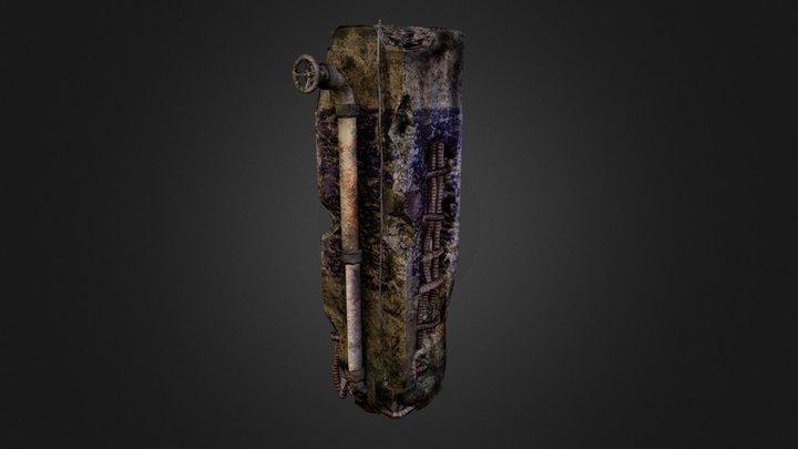 Damaged Pillar followed 3D Model