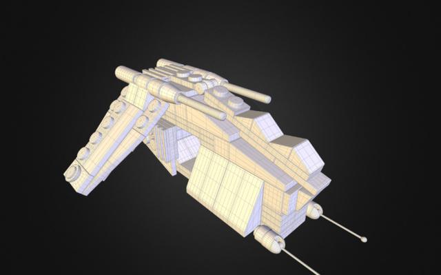 Lego GunShip - wireframe 3D Model