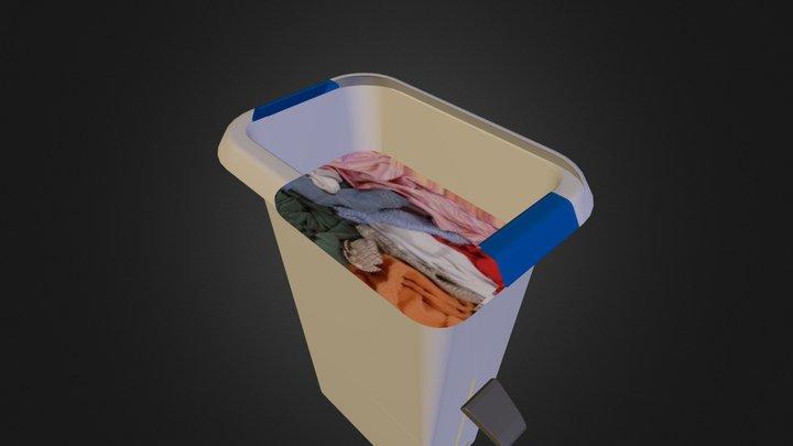 hamper with foot pedal 3D Model