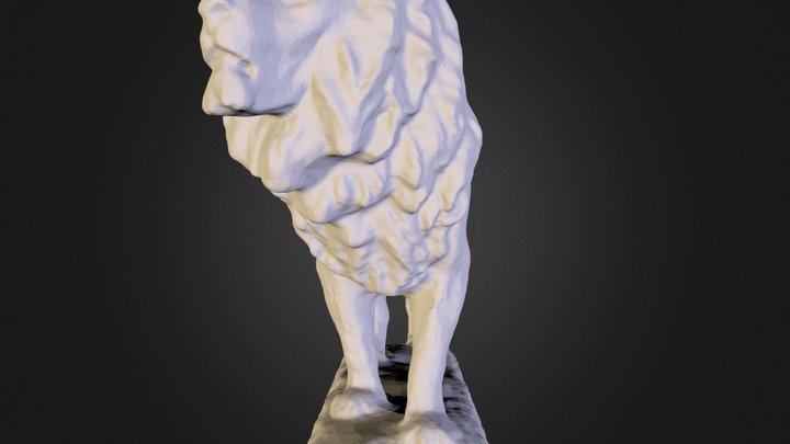 Art Institute Chicago Lion 3D Model
