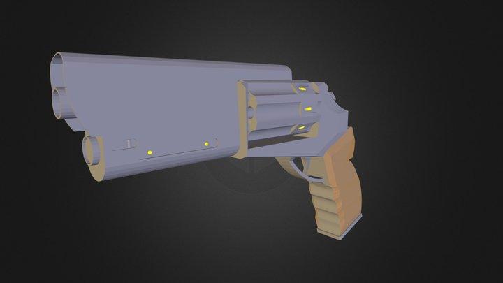 Blade Runner style gun 3D Model