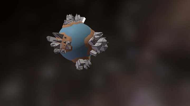 Toon Gem Planet for a game 3D Model