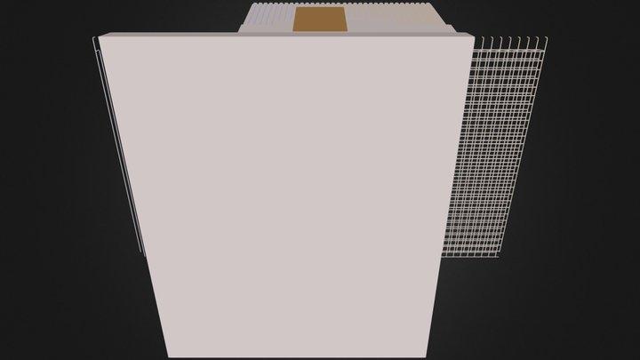 Detalle de cubierta muro de hormigon  3D Model