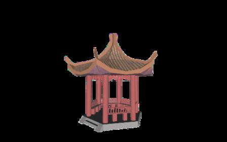 亭子 3D Model