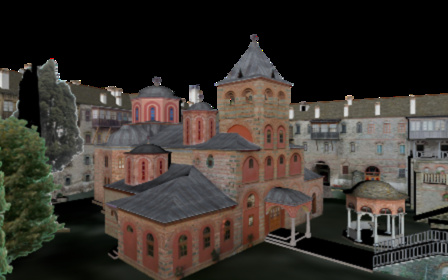 Philotheou Monastery, Mt. Athos 3D Model