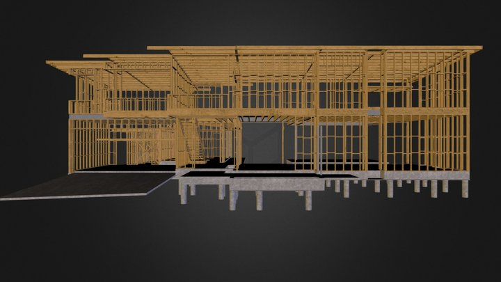 Site 5: second floor walls 3D Model