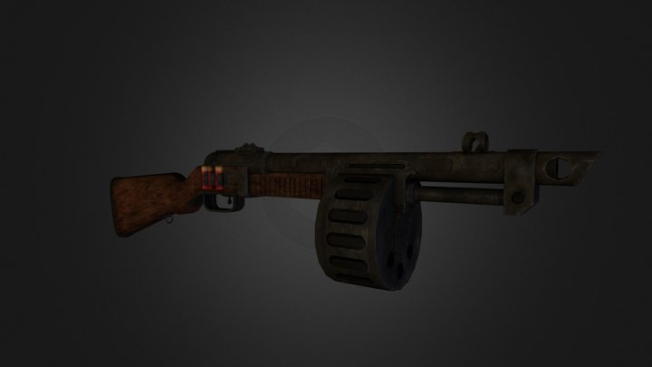 low_poly_shotgun_both_attachments_for_marmoset.o 3D Model