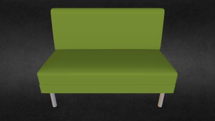 Slät soffa 3D Model