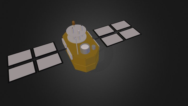 asteroid and satellite 02 3D Model