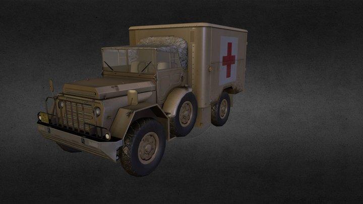 DAF YA 128 GWT Ambulance 3D Model