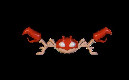 Krabby (Red) 3D Model