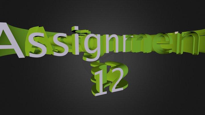 A12: 3D logo with Text Spline and Sweep NURBS 3D Model