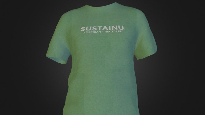 SustainU American/Recycled Men's Tee 3D Model