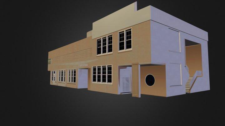Cafeteria - Hercules Powder Co. 3D Model