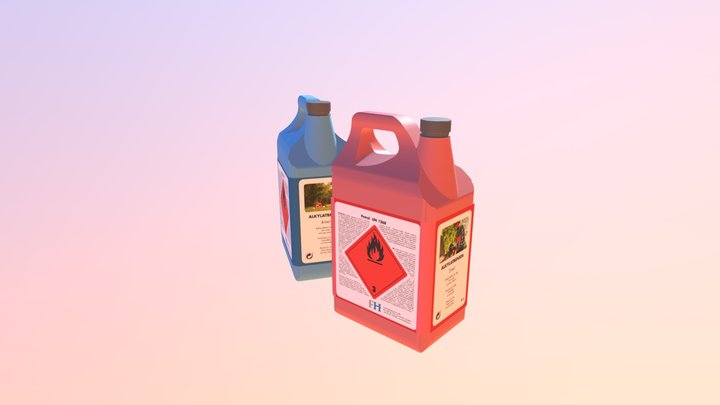 Gasoline Containers (vray texture) 3D Model