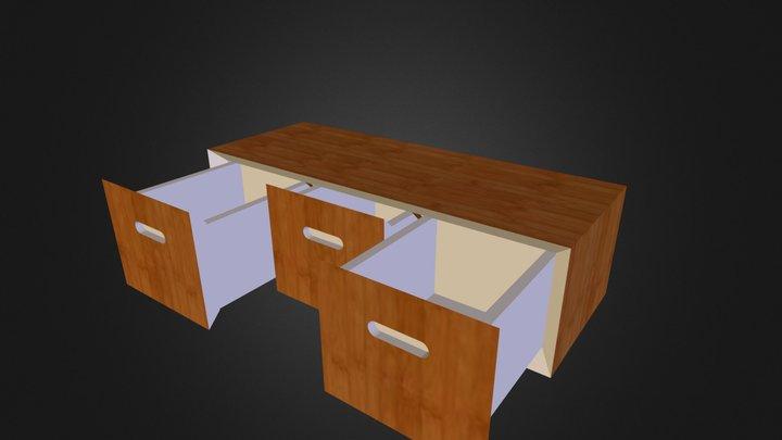 Meubles 3 tiroirs 3D Model