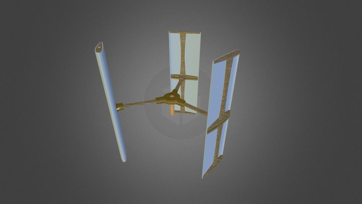 Rotor-Airfoil Assembly 3D Model
