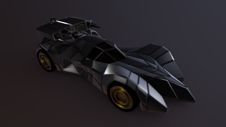batmobile armored 3D Model