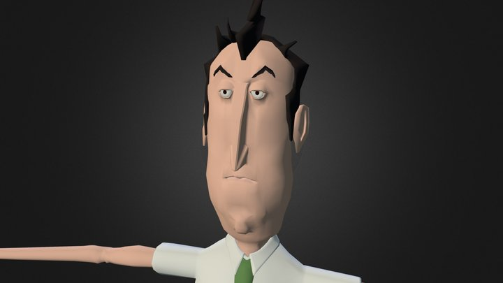 Mr Bad Humour 3D Model