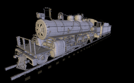 Locomotiva Mikado 3D Model